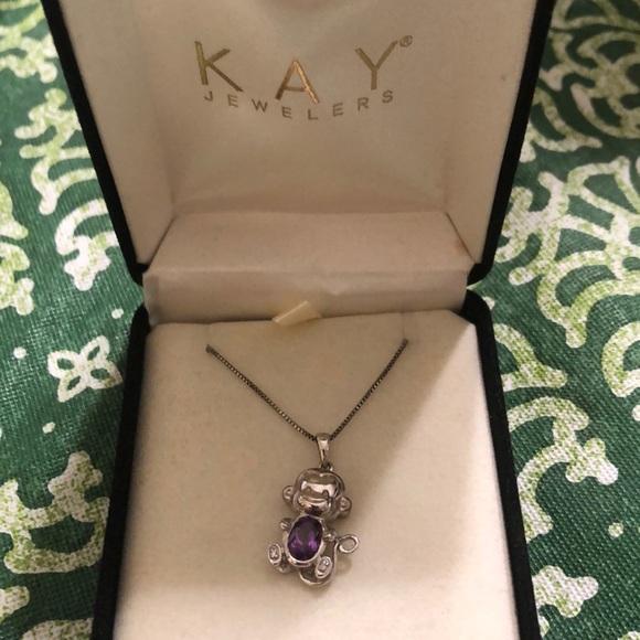 587d0b03a Kay Jewelers Jewelry | Amethyst Monkey Necklace | Poshmark